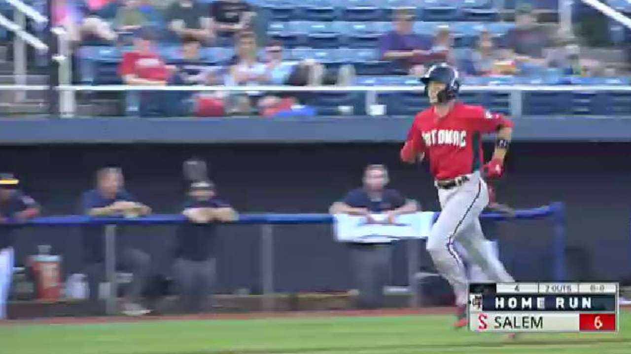 P Nats Kieboom Continues Grand Stretch Rochester Red Wings News Coach Bennet Snoopy Saddle Authentic Hammers A Slam